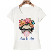 karikatür tişörtler kızlar için toptan satış-Karizmatik Sevimli Cartoon Art Tişörtlü Yaz Sevimli Kadın T Shirt Yeni Tasarım Kız T -Shirt Bayanlar Günlük Tees S-3XL Tops