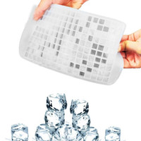Wholesale fruit trays resale online - DIY Creative Small Ice Cube Mold Grids Square Shape Silicone Ice Tray Fruit Ice Cube Maker Bar Kitchen Accessories LXL1114