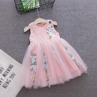 207911fed BibliCal Baby Girl Floral Lace Princess Tutu Dress Wedding Christening Gown  Dress Girls Clothes Kids Party Wear Meninas Vestidos