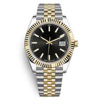 herrenuhren großhandel-Luxus Herrenuhr mit Datum 36mm hochwertige automatische mechanische Designer Herren Freizeituhr Edelstahl Montpel Uhr