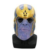 novos adultos quentes venda por atacado-Mais novo Hot Avengers 4 Endgame Thanos máscara e luvas Novas crianças adulto Halloween cosplay látex Natural Infinito Gauntlet Brinquedos