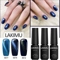 Wholesale black paintings for sale resale online - Lakimu Cat Eye LED Lamp UV Gel Polish Paint Colors ML Soak Off Gel Nail Polish Lacquers for Sale Long Lasting Nail Art Stamping