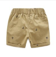 Wholesale baby clothes anchors resale online - Ins Kids Shorts Anchor Printed Short Pants Cotton Kids Panties Causal Chidren Breechcloth Summer Baby Clothing Colors WZW YW2852