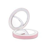 мини-usb-кабель свет оптовых-Зеркало для макияжа светодиодные мини-микро Usb-кабель 1x 3x увеличить ручной складки небольшой портативный встроенный аккумулятор платный