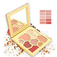 zehn make-up großhandel-Weihnachten Make-up 10 Farben Lidschatten Weinrot Platte Lidschatten Matt zehn Farbe Lidschatten