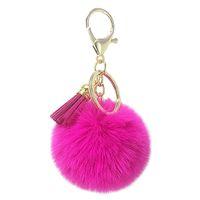 brinquedo de pelúcia senhora venda por atacado-Novo coreano fluff bola chaveiro pingente de lã artificial lady bag chave do carro pendurar acessórios presentes de brinquedo de pelúcia.