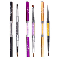 Wholesale french nail art images resale online - ETEREAUTY Nail Art Acrylic Gel Extension Builder Liner Brush Lines D DIY French Image Painting Drawing Manicure Pen