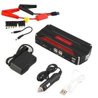 calidad de la batería del coche al por mayor-Alta calidad multifuncional 68000mAh 12 V 4USB portátil Mini Car Jump Starter Power Bank para emergencia arranque cargable batería