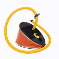 kajak aufblasbar großhandel-Tragbare aufblasbare Hochdruck-Fußpumpen-Luftpumpe im Freien für Bootskajak-Floß # 637602