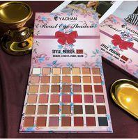 Wholesale brown eyeshadow resale online - Fashion Red brown Earth Eye shadow Colors Beautiful Eyeshadow Shimmer Matte Eyeshadow Long Lasting Eyes Cosmetics Makeup Gift