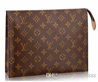 çanta yapılan çiçek toptan satış-Hag / eski çiçek / dikdörtgen çanta kadın seyahat makyaj çantası yeni tasarımcı yüksek kalite erkekler yıkama çanta ünlü marka Kozmetik Çantaları Kılıfları