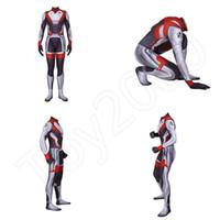 Avengers 4 Endgame Jumpsuit Kids Adult Quantum Realm 3D Zentai Cosplay Costume Y
