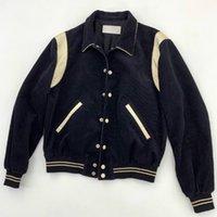 erkekler ipek şortları toptan satış-19FW Lüks Avrupa Ipek bel ceket Kısa Yaka Sıcak Moda Retro Yüksek Kaliteli ceket Erkek Kadın Çiftler Tasarımcı Ceket HFYYJK006