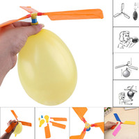 Wholesale helicopter toys resale online - Flying Balloon Helicopter Toy balloon airplane Toy children Toy self combined Balloon Helicopter Child Birthday Xmas Party Bag Gift MMA2051