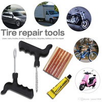 Wholesale repair tire resale online - Tire Repair Kit for Cars Trucks Motorcycles Bicycles Auto Tyre Repair for Tubeless Emergency Tyre Fast Puncture Plug Repair