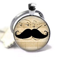 Wholesale mustache chains resale online - Vintage Mustache Keyring Vintage Art Pendant Key Chain Handmade Keychain Fashion Jewelry for Women Or Men