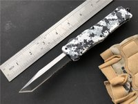 Wholesale best nylon knife resale online - Medium Combat D A automatic knives Winter Digital Camo Medium Size A161 EDC tactical gear camping knife with nylon Sheath Best gift P59Q
