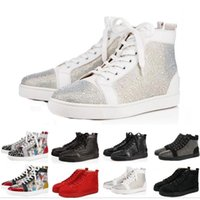 Wholesale pumps casual shoes resale online - 2019 Fashion luxury designer women men shoes low red bottom Nude black red Leather Pointed Toes Pumps casual sneaker shoes