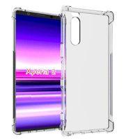 xperia case gel al por mayor-Para Sony Xperia 5 / Xperia 1 / Xperia 10 Plus L3 Funda transparente de silicona transparente suave protección TPU Gel piel contraportada