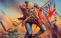 ingrosso ferro di metallo pesante-Iron Maiden Wallpaper Bandiera Heavy Metal Banner 150 CM * 90 CM 3 * 5FT Poliestere Banner Personalizzato marilyn monroe tatuaggio Decorazione Appeso A Parete