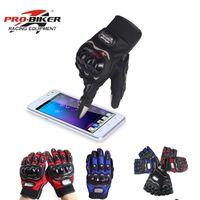 Wholesale glove pro biker resale online - Summer PRO BIKER motorcycle half full finger gloves motocross glove motorcyclist with protecting armor M L XL XXL