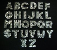 lettres ceintures achat en gros de-130 PCS 10mm Argent Strass A-Z Slide Charmes Slide Lettres BRICOLAGE 10mm Bracelets Bracelets Ceinture Sangles Pet Nom Collier