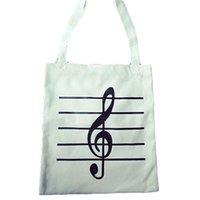ingrosso note di acquisto-Borsa a tracolla portatile Shopping Bag Borsa a tracolla alta qualità borsa a spalla ad alta capacità singola nota musicale borsa stampa donne