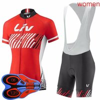 Wholesale women s team cycling jerseys resale online - LIV Team Women Cycling Jersey Set bike shirt bib shorts suit summer breathable road bicycle uniform Outdoor sportswear Y090606