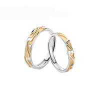 anéis de liga redimensionáveis venda por atacado-Mulheres na moda Casais Onda trigo Resizable anel de cobre liga de prata amantes chapeamento redimensionáveis moda anéis de jóias aniversário