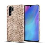 Wholesale snake skin phone case online – custom Snake Skin PU Leather Phone Case For Huawei P30 P20 Mate pro Luxury Shockproof Back Cover
