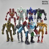 ingrosso figure di acciaio reale-Real Steel Zeus Atom Midas Adam Raider LED Robot Modello Giocattoli Regalo Action Figure 8 pezzi / set 13 cm