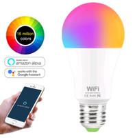 15W WiFi Smart Light Bulb RGB White Magic LamDimmable LED E27 B22 WiFi Bulbs Compatible with Amazon Alexa Google Home Smartphone