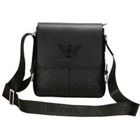 bolsa de bolsa de ombro venda por atacado-Saco de ombro dos homens negros estilingue de couro para pu sholder crossbody messenger bags cinto homens bolsas de ombro para laptop bolsas