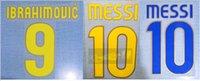 2008-2010 home away MESSI IBRAHIMOVIC nameset patch badge