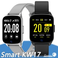 Wholesale ultra smart phone resale online - KW17 Smart Watch fitness tracker Heart Rate bracelet Ultra thin Body smartwatch Waterproof Call Reminder for Apple Android smart phone