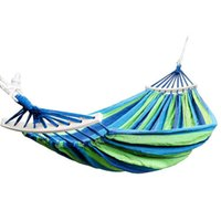 Wholesale canvas double swing resale online - Hot Double Hammock Lbs Portable Travel Camping Hanging Hammock Swing Lazy Chair Canvas Hammocks