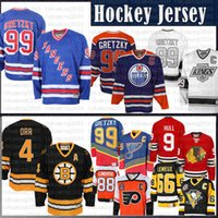 jersey yakupov achat en gros de-99 Wayne Gretzky St. Louis Blues New York Rangers Oilers d'Edmonton CCM 4 Bobby Orr Bruins de Boston Heroes de Los Angeles Hockey Kings Jersey