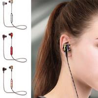 interface de microfone venda por atacado-M18 fone de Ouvido Sem Fio Fones de Ouvido Bluetooth Fones de Ouvido Estéreo Esporte Fones De Ouvido com Controle de Volume de Microfone de 3.5mm de Interface com Caixa De Varejo