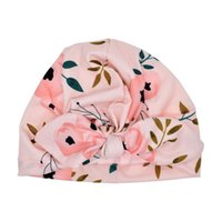 Wholesale cute girls hot photos for sale - Group buy Newborn Baby Boy Girl Fashion Sun Hat Floral Bowknot Cap Toddler Turban Photo Props Cute Kids Lovely Print Hat Hot