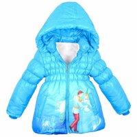charakter kapuzen für kinder groihandel-New Baby Snow White Jacket Kids Cotton Warm halten Wintermantel Chirdren Charakter Schöne Hoodies Oberbekleidung