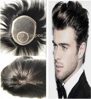 peruca superior de seda birmanesa venda por atacado-Peruca de renda para homens negros peruca mens lace meias top de seda peruca invisível nós na coroa homens peruca de cabelo humano virgem birmanês