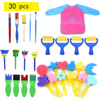 Wholesale art supplies set for kids resale online - New Drawing Toys Funny creative toys for kids diy flower Graffiti sponge Art Supplies Brushes Seal Painting Tool L