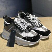 sapatos de ligação venda por atacado-Chegada Nova 2019 Homens Mulheres frete grátis Sapatos Chain Reaction Luxo Distrito Medusa LUX Link-relevo Sole Calçados casuais versace instrutor
