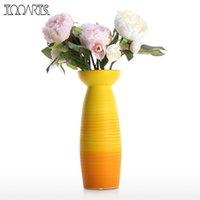 цветочный офисный стол оптовых-Ваза для цветов украшения дома для гостиной кухонный стол офис Центральным свадьба или в качестве подарка вазы для цветов