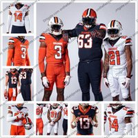 ingrosso marrone arancione jersey-Personalizzato Syracuse Orange 2019 New Football Jersey Ritirato 5 Donovan McNabb 39 Larry Csonka 44 Jim Brown 72 Tim Green 88 John Mackey