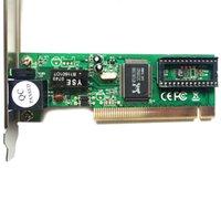led lan toptan satış-10/100 Mbps RJ45 Adaptif PCI Dahili Kablolu Ağ Kartı LAN Adaptörü Masaüstü için LED Göstergesi