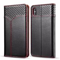 étui iphone carte de visite achat en gros de-EGEEDIGI Pour iphone xs max xr Portefeuille en cuir de luxe pour affaires en cuir Etui à rabat de téléphone