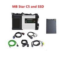 diagnosenkabel russische sprache großhandel-Wifi MB Stern C5 SD schließen volle Kabel mit Software multi-languages SSD 512gb schneller Geschwindigkeit an Super mb Stern c5 voller Satzdiagnose