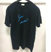 ingrosso stampa vintage t-shirt-T-shirt manica corta europea di lusso 18SS girocollo lettera stampa logo T-shirt moda maschile e doppia manica t-shirt vintage HFWPTX248