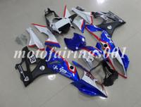 calcomanías de moto azul negro al por mayor-Cascos de carenado nuevos HP4 para BMW S1000RR 2009 2010 2011 2012 2013 2014 09-14 Carenado de moldes de inyección Paneles de plástico ABS Cubiertas Rojo azul